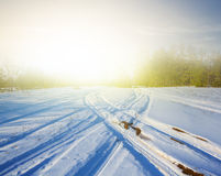 Snowbound winter landscape Royalty Free Stock Images