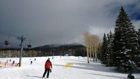 Snowbowl_AZ. December in Flagstaff, Arizona at the Snowbowl ski lift Royalty Free Stock Photo