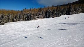 Snowbowl_AZ. December in Flagstaff, Arizona at the Snowbowl ski lift Royalty Free Stock Photos