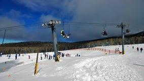 Snowbowl_AZ. December in Flagstaff, Arizona at the Snowbowl ski lift Royalty Free Stock Photography