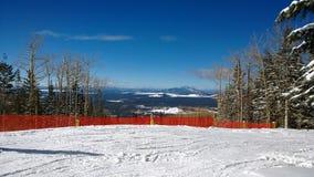 Snowbowl_AZ. December in Flagstaff, Arizona at the Snowbowl ski lift Royalty Free Stock Images