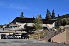 Snowbowl ski resort in Flagstaff Arizona stock image