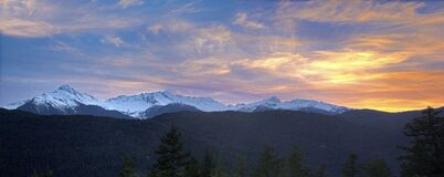 Snowcap Mountain Panorama Royalty Free Stock Images
