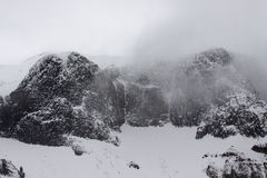 Snowcapped гора Стоковое Изображение