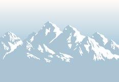 Snowcapped горы - предпосылка Стоковое Изображение RF