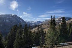 Snowcapped berg Arkivfoton
