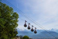 Snowcapped Bergen van Frankrijk royalty-vrije stock fotografie