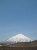 snowcapped bergsky Royaltyfri Fotografi