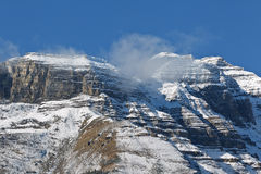 Snowcapped Canadian Rockies Stock Photo