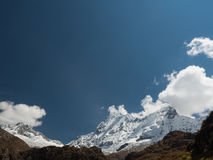 Snowcapped Chacraraju mountain, Peru Stock Photo