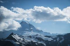 Snowcapped góra piekarz, Ptarmigan grań, stan washington Cascad Zdjęcie Royalty Free