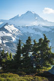 Snowcapped góra piekarz, Ptarmigan grań, stan washington Cascad Obraz Royalty Free