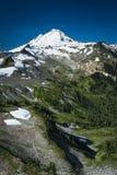Snowcapped góra piekarz, Ptarmigan grań, stan washington Cascad Obrazy Royalty Free