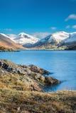 Snowcapped góry Przy Wastwater W Jeziornym okręgu Obrazy Royalty Free