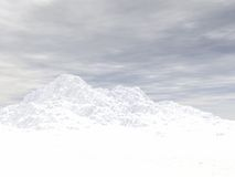 Snowcapped height of mountain. 3d image Stock Photo