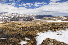 High mountain winter in the western mountains Royalty Free Stock Images