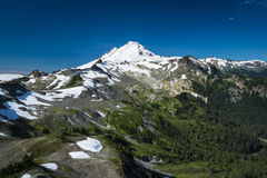 Snowcapped Mount Baker, Ptarmigan Ridge, Washington state Cascad Stock Photo
