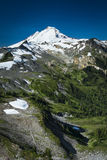 Snowcapped Mount Baker, Ptarmigan Ridge, Washington state Cascad Royalty Free Stock Images