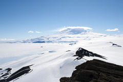 Snowcapped mountain in Antarctica Royalty Free Stock Photos