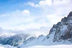 Snowcapped mountain landscape Royalty Free Stock Image