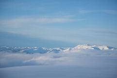 Snowcapped Mountain Range Stock Photos