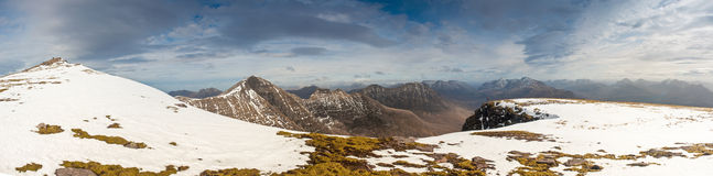 Snowcapped Mountain, Scotland Stock Photo