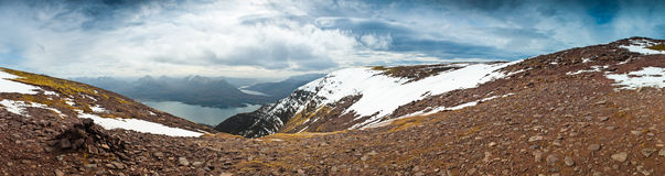 Snowcapped Mountain, Scotland Royalty Free Stock Image