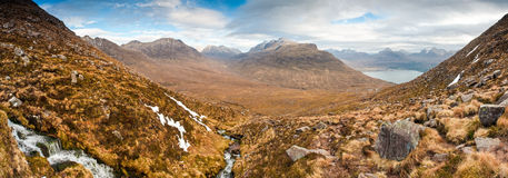 Snowcapped Mountain, Scotland Royalty Free Stock Photos