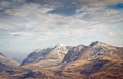 Snowcapped Mountain, Scotland Stock Photos