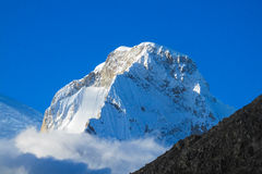 Snowcapped mountain top Huascaran Royalty Free Stock Photography