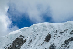 Snowcapped mountain top Royalty Free Stock Photos