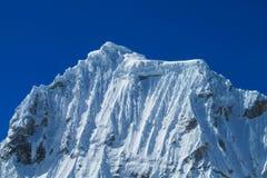 Snowcapped mountain top Stock Photos