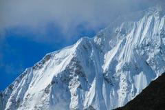 Snowcapped mountain top Royalty Free Stock Photo