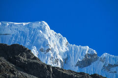 Snowcapped mountain top Royalty Free Stock Image