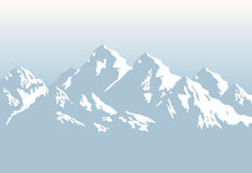 Snowcapped mountains - background. Vector illustration Royalty Free Stock Image