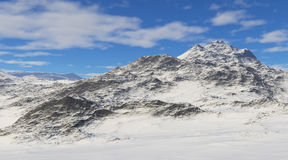 Snowcapped mountains. Royalty Free Stock Photos