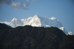 Snowcapped mountains, Himalayas, Uttarakhand, India Stock Image
