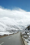 Snowcapped mountains of Tibet and QinghaiTibet Highway Stock Images