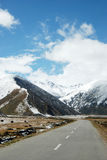 Snowcapped mountains of Tibet and QinghaiTibet Highway Stock Photos