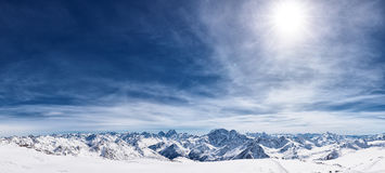 Snowcapped mountains Stock Photography