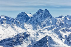 Snowcapped mountains Royalty Free Stock Image