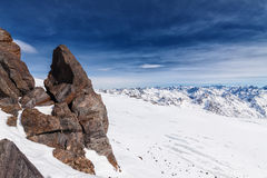 Snowcapped mountains Royalty Free Stock Photography