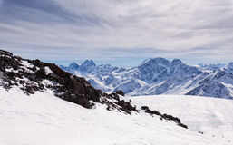 Snowcapped mountains Stock Photos