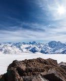 Snowcapped mountains Royalty Free Stock Photos