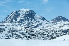 Snowcapped Mountains. On the White Pass and Yukon Route Stock Image