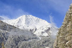 Snowcapped peak Royalty Free Stock Image