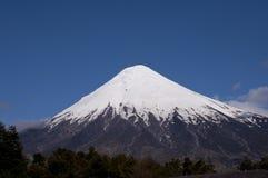Snowcapped peak of Osorno volcano Royalty Free Stock Photo