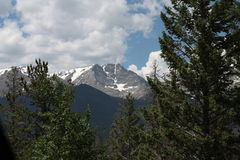 Snowcapped Rocky Mountains Arkivbild