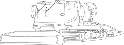 Snowcat Stock Vector Illustration Of Driving Caterpillar 8459417