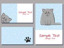 Snowcat cards Royalty Free Stock Image